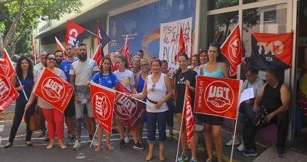UGT gana las elecciones sindicales en la piscina de Añaza en Tenerife con un respaldo histórico